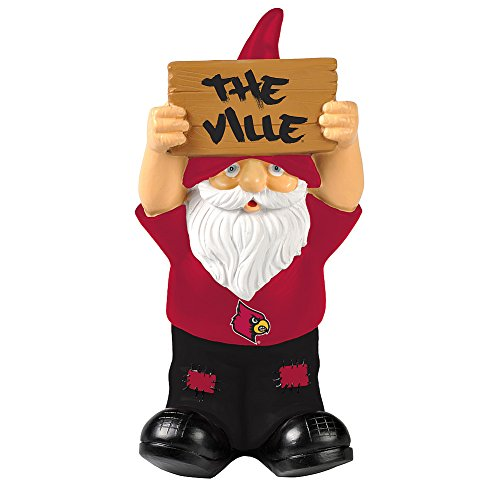 Elite Fan Shop Louisville Cardinals Garden Gnome - Red