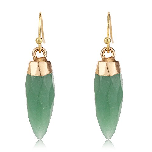 Tom+Alice Fashion KC Gold Silvering Personality Bullets Dangle Earring for Women Natural Stone Freshwater Pearl Novelty ()