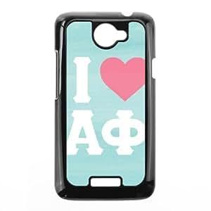 HTC One X Cell Phone Case Black I Love Alpha Phi Cqajh