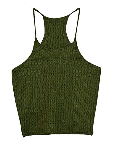 Aphratti Womens Sleeveless Strap Crochet