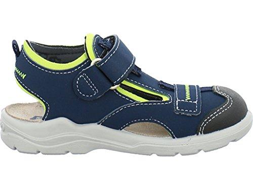 Ricosta 33-21900 Jo Schuhe Jungen Sandalen Weite mittel Jeans/Neongelb