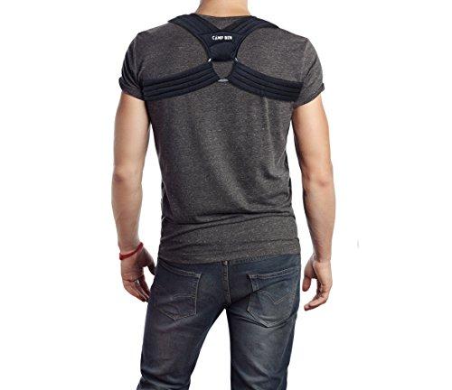 Price comparison product image NEW! CAMP BEN ™ (Large Black) Slim Posture Corrector Brace - Figure 8 Clavicle Design - Shoulder Support - Help Stop Hunch