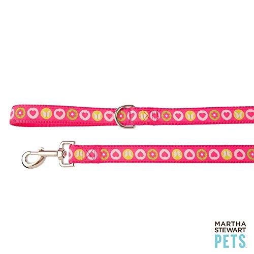 Pink Allie Patchwork Dog Leash For LARGE Dogs 4 FT ()