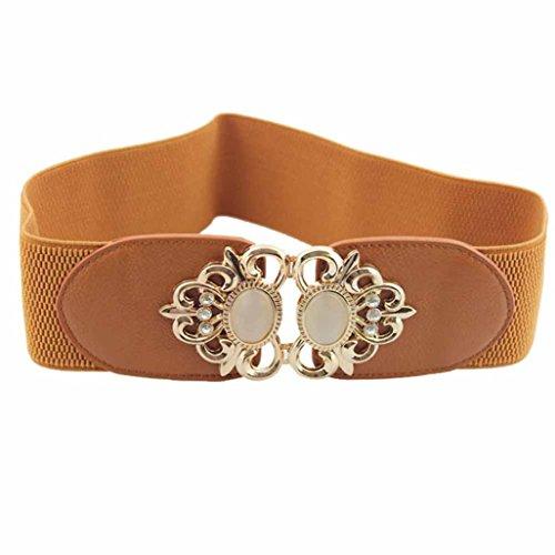 deeseetm-new-women-alloy-flower-vintage-leather-belt-straps-waistband-accessories-brown