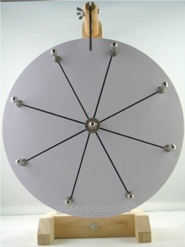 """12"""" Tabletop White Dry Erase Prize Wheel, Spinning Board w/"""