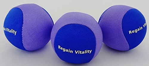 Regain Vitality Hand Therapy Stress Relief Ball - 3 PACK - Hand Exercise & Strengthening by Regain Vitality
