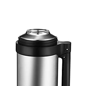 ONEISALL 1.5L/52oz Stainless Steel Flask Double-wall Insulated Thermos Large Capacity with Handle, Leak Proof, Outdoor Hiking Camping Car Travel Sport Hot Water Drinking Mug Vacuum Bottle (Blue)