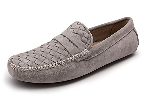 FARYM Men's Woven Details Penny Loafers Moccasin Driving ...