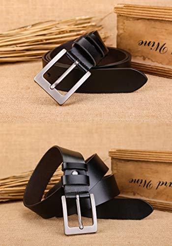 Fashion Buckles Belt For Mens 100/% Leather Gift Belt Box Waist Strap Formal Set