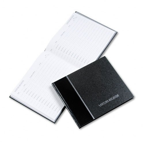 National Brand : Visitor Register Book, Black Hardcover, 128 Pages, 8 1/2 x 9 7/8 -:- Sold as 2 Packs of - 1 - / - Total of 2 Each