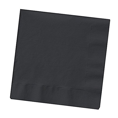 Creative Converting Touch of Color 50 Count 2-Ply Paper Black Velvet Lunch Napkins, 3 Pack -