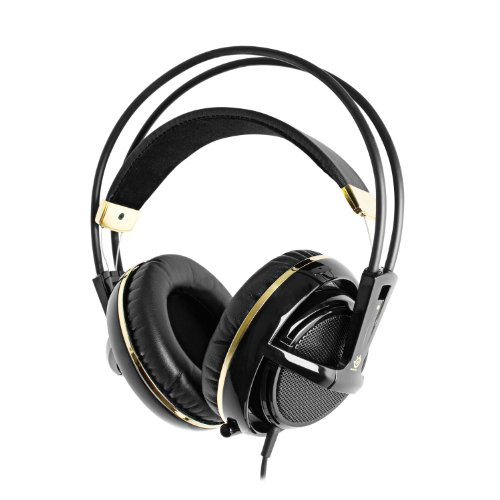 SteelSeries Siberia v2 Full-Size Gaming Headset (Black and Gold) by SteelSeries
