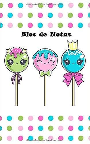 Bloc de Notas: Piruletas lindas, caramelo, Kawaii Cuaderno ...