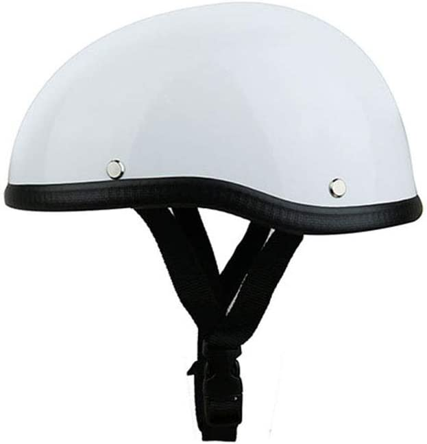 Festnight Casque de Protection pour Casque de Demi-Casque pour Casque de Moto pour v/élo de Scooter Moto Blanc /éclatant