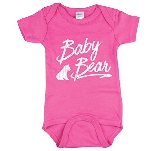 Texas Tees Baby Bear Bodysuit, Little Sisters Baby Bear Outfit, Gift for Sister, Pink 0-3 mo ()