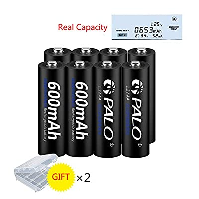 PALO 4 Bays Smart LCD Display Battery Charger for AA AAA Ni-Cd Ni-Cd Intelligent Rechargeable Batteries