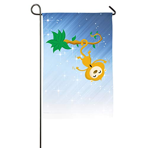 Shenigon Monkey Home Family Party Flag 101 Hipster Welcomes The Banner Garden Flags