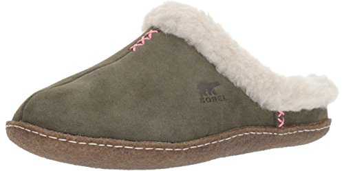 Sorel Women's Nakiska Slide Slipper, Nori, Dark Stone, 9 B US by SOREL