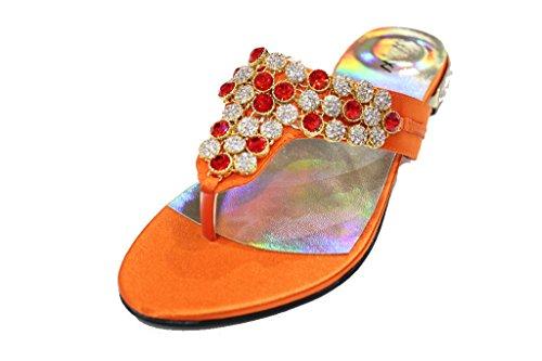 Wear & Walk UK - Sandalias mujer naranja