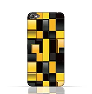 Lenovo S60 TPU Silicone Case With Yellow And Black Blocks Pattern Design