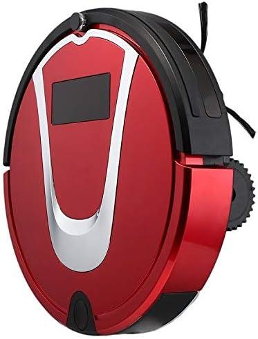 G-RF Aspirateur Robot TC-750 Intelligent Aspirateur Écran Tactile Ménage Balayer Nettoyage Robot avec télécommande (Noir) (Color : Black) Red