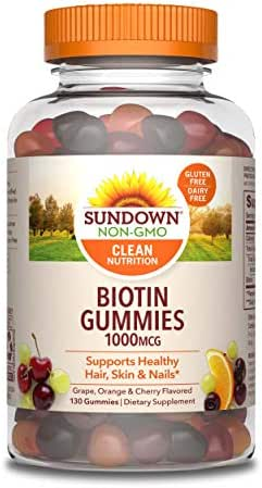 Sundown Biotin 1000 mcg, 130 Gummies