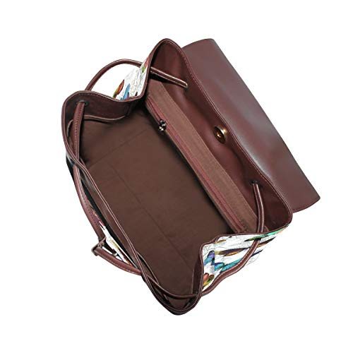 Kvinnor PU-läder fjäril ryggsäck handväska resa skola axelväska ledig dagväska