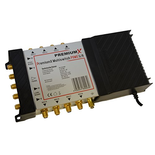 PremiumX PXMS-5/8 Multischalter für 8-er Teilnehmer 5/8