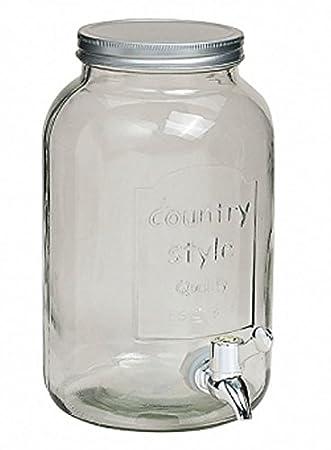 meindekoartikel Cristal Barril 6 litros con grifo (- Barril con grifo (- Dispensador de agua Bebidas dispensador: Amazon.es: Hogar