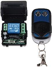 lejin DC12V Control de Acceso Puerta 12V 1CH mando a distancia Interruptor Sistema transmisor receptor Mini Tamaño 433MHz Relé Interruptor Relé funkschalater con emisor Transmisor de radio Interruptor de luz mando a distancia Receptor