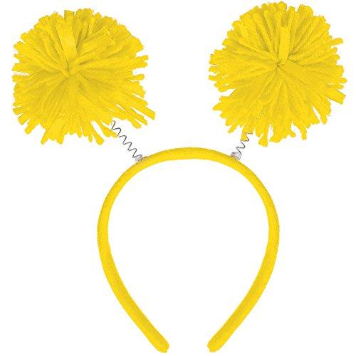 (Amscan Pom Pom Headbopper, Party Accessory, Yellow)