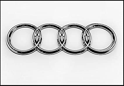 Amazoncom Audi Silver Rear Emblem Decal Logo Trunk Hatch Rings - Audi emblem