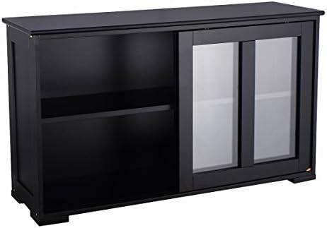 Goplus aparador de Cocina, Mueble de Almacenamiento con Puerta ...