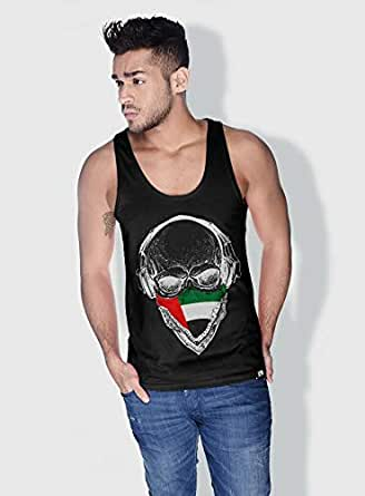 Creo Uae Skull Tanks Tops For Men - L, Black