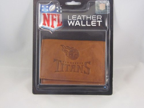 Tennessee Titans Brown Leather Trifold Wallet