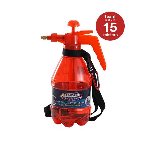 COREGEAR 15 Pack of USA Misters 1.5 Liter Personal Water Mister Pump Spray Bottle Red … by COREGEAR