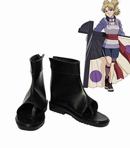 NARUTO Anime Temari Cosplay Shoes Boots Custom Made iXQzbBI