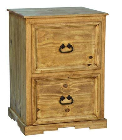 Santa Rita Rustic File Cabinet Fully Assembled - Honey Pine File Cabinet