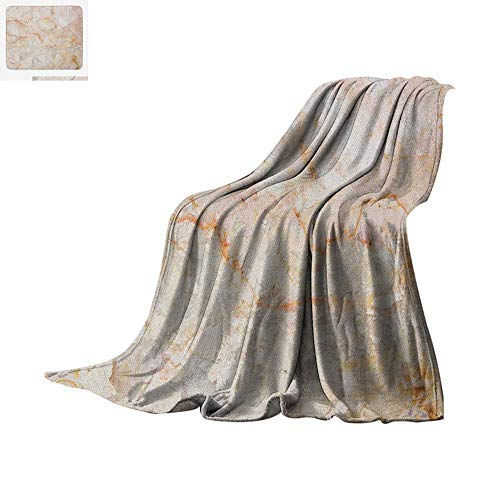 Marble Warm Microfiber All Season Blanket Mine Pattern Design Natural Fractures Realistic Stained Surface Art Print Summer Quilt Comforter 90