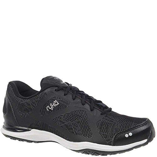 RYKA Women's Grafik Cross-Trainer Shoe, Black/Grey, 10 M US (Ryka Studio Womens)