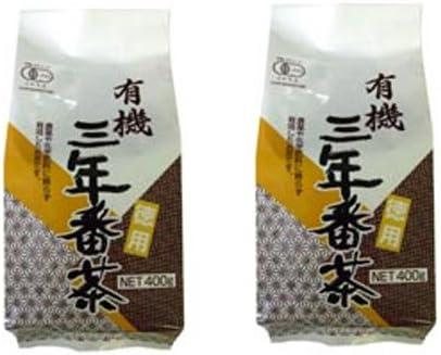 播磨園有機三年番茶400g2袋セット