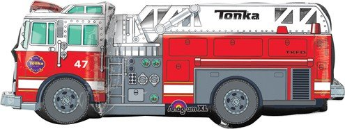 Tonka Fire Truck Supershape 35 Inch X 13 Inch Mylar Balloon ~ Birthday Party Supplies