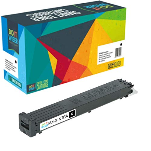 Do it Wiser Compatible Sharp MX-31NTBA Toner for Sharp MX-2600N, MX-3100N, MX-4101N, MX-5001N, MX-4100N Printers - - Toner Black 2600n