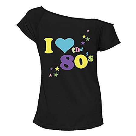 Style Wise Fashion Womens I Love 80s Fancy Dress Top Ladies Retro Parties Pop Star Tee T Shirt Top 1980s Party Top Hen Night Stag Do 411y7eFPYwL