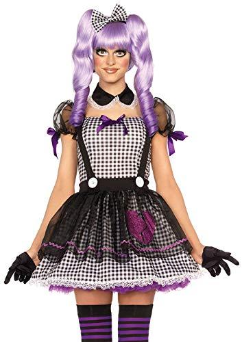 Porcelain Dolls Halloween (Leg Avenue Women's Dead Eye Dolly, Black/White,)