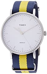 Who says casual and classy dont mesh There is always a way to make it work Laid-back doesnt have to mean boring or drab and this Timex Weekender Fairfield watch is proof for those who doubt it Its the perfect in-between a duo of dapper and do...
