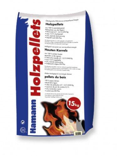 Holzpellets 6mm 15kg - Kaminpellets Heiz Pellet - ohne Bindemittel & chemischen Zusä tzen Hamann Mercatus GmbH