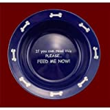 Porcelain Cat or Dog Anti Ant Bowl – 9″ Diameter Heavy for Non Skid and Non Tip – With Anti Ant Moat Protection For Sale