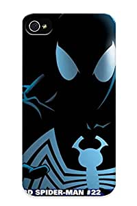Rugged Skin Case Cover For Iphone 4/4s- Eco-friendly Packaging(spiderman)