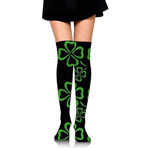 Shamrock Lover Over The Knee Long Socks Tube Thigh-High Sock Stockings For Girls & Womens 19.7in - Shamrocks Calendar